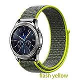 MIJIN Nylon Strap, 20mm 22mm con Tessuto Cinturino in Velcro Sport della Cinghia Anello Strap Compatibile Samsung Galaxy Watch/Huawei Guarda GT 2,3,22MM