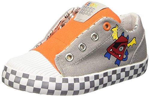 Geox Unisex Baby B Kiwi Boy A Babyschuhe-Lauflernschuhe Gelb - Jaune (Lt Grey/Orange)