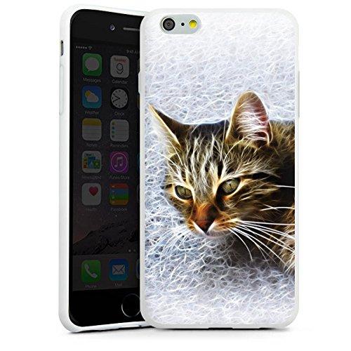Apple iPhone X Silikon Hülle Case Schutzhülle Katze Cat Kätzchen Silikon Case weiß