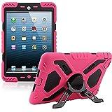 Coque pour iPad 2/3/4, anti-poussière et résistante aux chocs militaire extrême Y&M(TM) Pepkoo avec support tablettes Coque de protection hybride rigide armée pour iPad 2/3/4