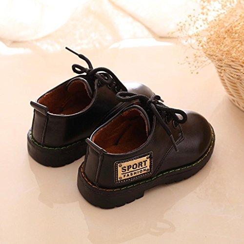 Clode® Hiver Style Armée Bébé Enfant Martin Bottes Chaussures (2-3Age, Noir) Noir