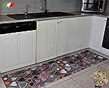 Multicuore tappeto cucina stampa digitale AL TAGLIO [GRIGIO]