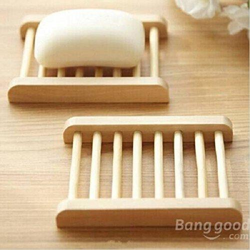 Mark8shop forma trapecio bambú natural Caja Jabón