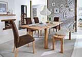 massiv.direkt 1101 Tisch Paul, Holz, 90 x 160/240 x 75 cm