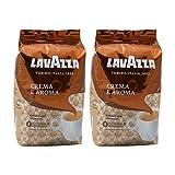 Lavazza Kaffee Crema E Aroma, ganze Bohnen, Bohnenkaffee (2 x 1kg Packung)