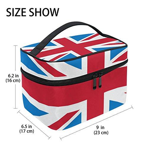 tizorax Retro Union Jack Britische Flagge mit Kosmetik-Tasche, Make-up-Organizer, Halter für Frauen Mädchen -