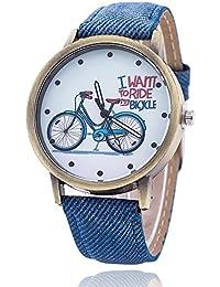 New Designer Analog Blue Jeans Belt Watch