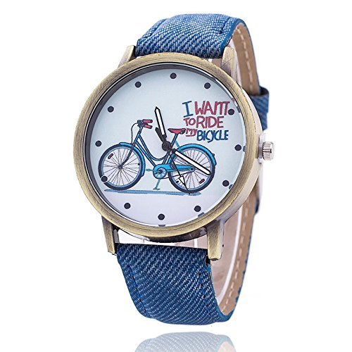Mens Analog Printed Dial Watch With Jeans Belt