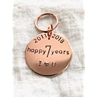 7th Wedding anniversary Key Ring For Him For Her