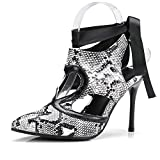 B2-0 Size 33-43 Lady Sexy Hollow Ankle Strap Sandals Women Pointed Toes Lace-up Shoes Female Career Shoes Woman 10CM Heels Shoes Multi 42