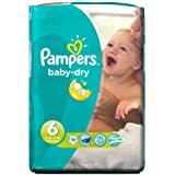 Pampers Baby Dry – Couches Taille 6 de transport Lot de 19