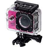 QUMOX SJ4000 Camera Argento azione Sport Cam Waterproof Full HD 1080p 720p Video Helmet Cam con cassa impermeabile
