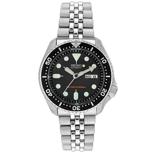 seiko-mens-automatic-watch-with-black-dial-analogue-display-and-grey-stainless-steel-bracelet-skx007