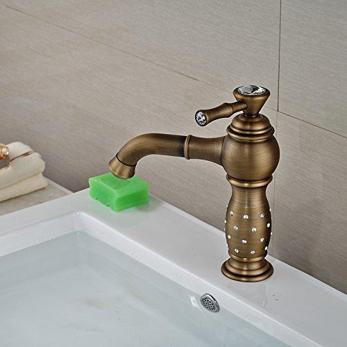 tougmoo due colori lavandino piano rubinetto in ottone antico/Oro Finitura Vasca Chocolate