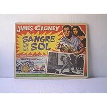 Original Mexican Lobby Card Blood On The Sun James Cagney Sylvia Sidney
