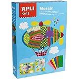 Apli Kids–Kit de vehículos en Mosaico de EVA espuma, manualidades (Multicolor)