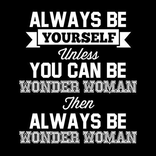 Always Be Yourself Wonder Woman Men's Vest Black