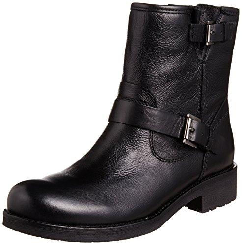 Geox D NEW VIRNA, Damen Biker Boots, D4451E00043 Schwarz (Blackc9999)