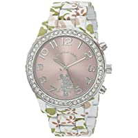 U.S. Polo Assn. Womens Quartz Watch, Analog Display And Stainless Steel Strap - USC40105