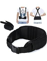 Yahill® Cinturón de seguridad táctico exclusivo Molle ajustable con correa libre para equipos y deportes al aire libre (Negro)