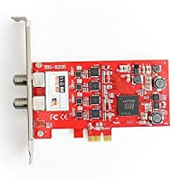 TBS 6205 QUAD FREEVIEW DVB-T2/T/C Terrestrial / Cable Quad TV Tuner PCIe Card (Replacement for TBS 6285)