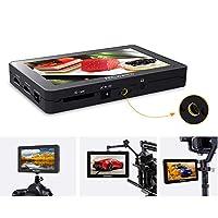 مجموعة شاشات الميدان في الكاميرا F6 Plus 5.5 بوصة من FEELWORLD مساعد فيديو فيديو ثلاثي الأبعاد LUT مع ذراع إمالة دعم إدخال وإخراج 4K HD 1920 * 1080 بكسل HD لكاميرات كانون ونيكون دي اس ال ار