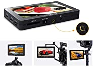 FEELWORLD F6 Plus 5.5 Inch On-Camera Field Monitor Kit 3D LUT Video Assist with Sunshade Tilt Arm Support 4K H