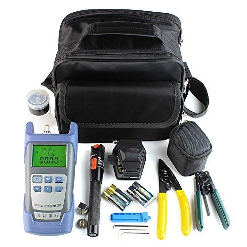 DAXGD 9 en 1 fibra óptica FTTH kit de herramientas con SKL-6C cuchilla de fibra óptica y medidor de energía 10MW visual localizador de averías Wire stripper