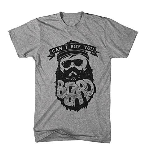 Herren T-Shirt Can i buy you a Beard - Bart Hipster Graumeliert