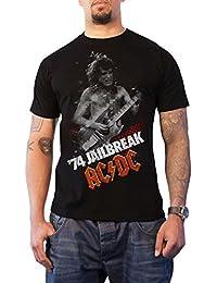 AC/DC T Shirt Jailbreak 74 Band Logo Angus Official Mens Black