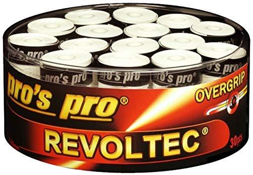 Pro 30 Tennis Griffbänder Revoltec Weiss besonders haltbar