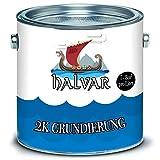 Halvar skandinavische 2-K Grundierung mit Härter im SET grau, schwarz, weiß, Alle RAL Farben möglich! (2,5 kg, Grau (RAL 7035))