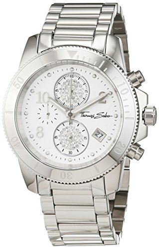 Thomas Sabo Women's Watch Glam Chrono Silver Analogue Quartz