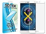 SDTEK Huawei Honor 6X (Blanc) Couverture complète Verre Trempé Protecteur d'écran Protection Résistant aux éraflures Glass Screen Protector Vitre Tempered