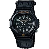Casio Forester Watch with Analogue Display - Black Men's Digital Watch with White Dial Digital Display and Black Resin Strap FT500WC/1BVER