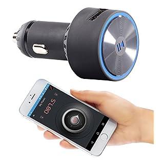 auvisio Auto Bluetooth: Kfz-FM-Transmitter FMX-520.BT mit Bluetooth und App-Steuerung (Transmitter Auto, Bluetooth)