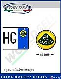 ADESIVI sticker bollino targa plate LOTUS, Auto Elise, Exige NEW!!