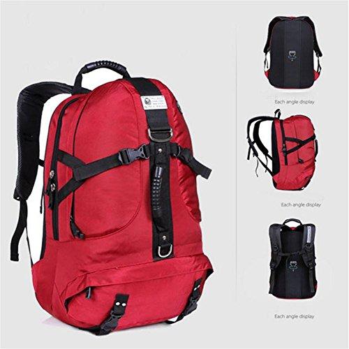 Borse zaino alpinismo esterno, trekking zaino da campeggio, borse da viaggio di viaggio, tela, sacchetto di alta capacità, 40L , a b