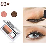 SMILEQ 2 Color Lazy Eye Shadow Puder Rainbow Shimmer Makeup Beauty Shadow (1 X, Multicolor A)