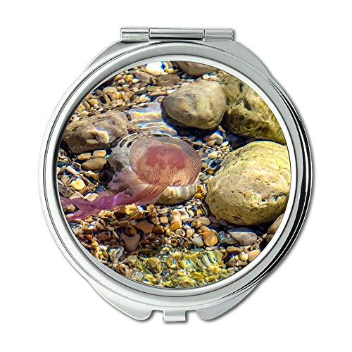 Spiegel, Reise-Spiegel, Tiernahe Farben, Taschenspiegel, tragbarer Spiegel