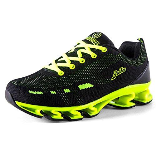 uomo L'autunno inverno Il nuovo Scarpe sportive All'aperto Scarpe da corsa formatori Aumenta le scarpe EUR FORMATO 39-44 green