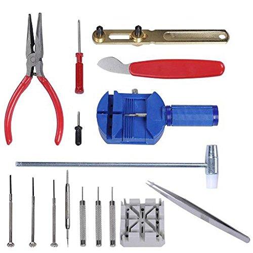 KAV 617468570225316PCS Uhr Reparatur Werkzeug Kit Handgelenk passen Band Pin Riemen Link Fix Rückseite Opener Entferner Professionelle (Folding Rack Drucken)