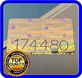 Etichette olografiche con numero di serie, 16 x 10 mm, 200 pezzi
