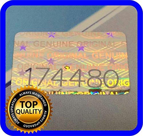 200unidades Holograma etiquetas números serie