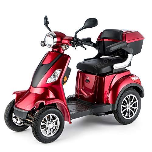 VELECO Scooter Électrique 4 Roues Senior/Pour Handicapés 1000W...