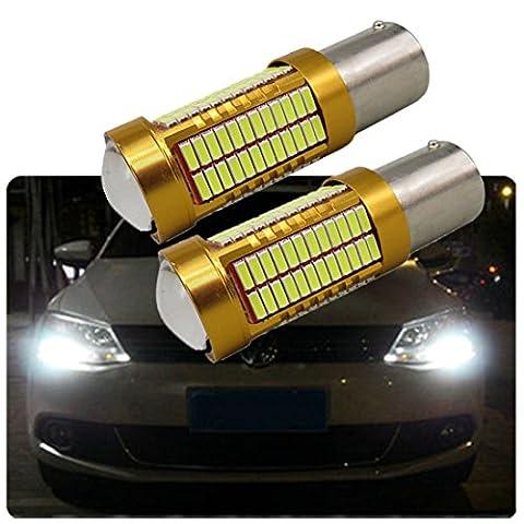 FEZZ Auto LED Ampoules S25 BA15S 1156 4014 106SMD CANBUS DRL Feux de Jour (Lot de 2)