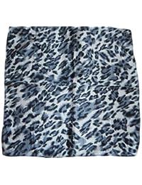 1b19cd677ae Petit mode noir célébrité fourrure léopard imprimé animal soie touché satin  mode pour femmes écharpe 50cmx50cm
