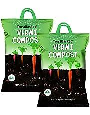 TrustBasket Organic Vermicompost Fertilizer Manure for Plants - 10 KG
