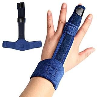Kuou Finger Extension Splint, Finger Splint Brace for Trigger Finger, Pinky, Middle, Ring Finger Immobilization, Finger Support Splint for Finger Knuckle Immobilization, Finger Fractures Pain Relief