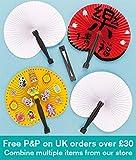 Baker Ross Abanicos chinos plegables que los niños pueden decorar y exhibir (pack de 6).